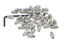 n8tive Remplazo Pin Set Acero M4x4 40 Stück plano plata para Pedales MTB BMX