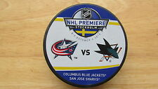 2010 NHL Premiere Dueling Puck Columbus Blue Jackets / San Jose Sharks