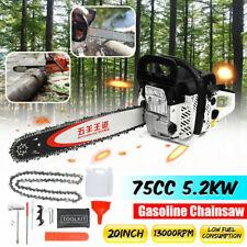 Pro 75CC 5200W 20'' Bar Gasoline Chainsaw Gas Powered Engine Woodworking