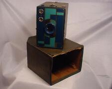 Vintage Kodak 2A Camera Beau Brownie  Doublet Lens Blue Art Deco 1930