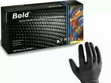 Aurelia Bold Powder Free Strong Black Nitrile Gloves Box of 100 S, M, L, XL