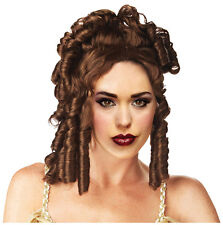 Synthetic Role play Reenactment or Crossdresser Costume Brunette Wig