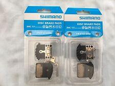 2 Sets of Shimano Disc Brake Pads Metal Ice-tec J04c Finned XTR XT SLX Alfine