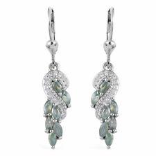 925 Sterling Silver Alexandrite Zircon Dangle Drop Earrings Gift Jewelry Ct 1.4