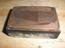Farley Loetscher Co Antique Historical Iowa Printing Press Block