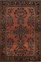 Antique Pre-1900 Vegetable Dye Lilihan Area Rug Floral Oriental Hand-knotted 4x5
