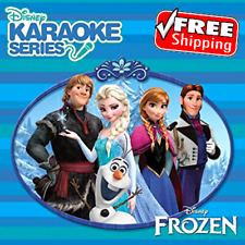 Kids Disney Frozen Series CD+G on Karaoke Machine signing Song Fun Enjoy