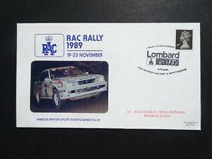 SPO GB Motor Sport  RAC Rally 1989 Official Pilgrim stamp cover no 29