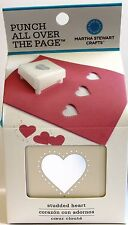 MARTHA STEWART Punch All Over The Page PAOTP Studded Heart Paper Craft Punch
