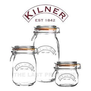 Kilner Clip Top Round Preserving Jars for Airtight Food Storage, Pickles & Jam