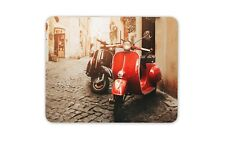 Red Scooter Mouse Mat Pad - Moped Bike Motorbike Retro Cool Computer Gift #15070