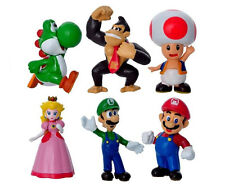 SUPER MARIO AND CHARACTERS CAKE TOPPERS 6 FIGURES  BN FREE P+P