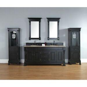 James Martin Brookfield 72' double Cabinet, Antique Black - 147-114-5731