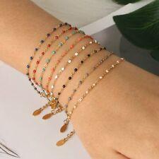 2020 Fashion Stainless Steel Chain Bracelet Bead Gold Bangle Charm Women Jewelry
