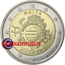 2 Euro Commémorative Malte 2012 - 10 Ans de l'Euro TYE