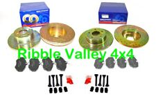 LAND ROVER DISCOVERY 2 FRONT AND REAR GROOVED DRILLED BRAKE DISC AND PAD KIT