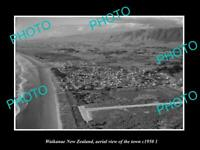 OLD LARGE HISTORIC PHOTO WAIKANAE NEW ZEALAND AERIAL VIEW OF THE TOWN c1950 2