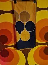 Vintage Retro Pinup Head Scarf Yellow & Blue Circle Pattern