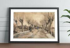 Van Gogh Road to Etten FRAMED ART POSTER PAINTING PRINT 4 SIZES BLACK OAK WALNUT