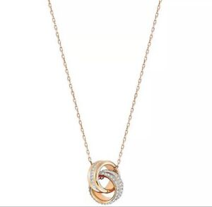 """18kYellow Gold Plating Pendant Necklace in 18"""" Chain Round Brilliant"""