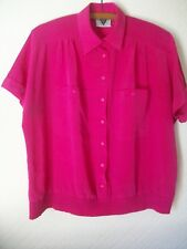 Jacques Vert Pink Short Sleeve Blouse/Tunic, Size 14