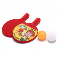 Portable Outdoor Sports Toys for Children Plastic Ping Pong Racket Ball Set 3cG