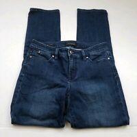 Talbots Flawless Five Pocket Straight Leg Jeans Womens Size 4 Blue Stretch Denim