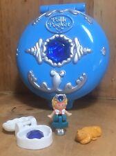 Polly Pocket Mini 💛 1992 Jeweled Sea Diamant Dose Blau Schatz Figur Otter 2304