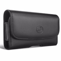 TracFone LG Phones Premium Horizontal Leather Carrying Case Case