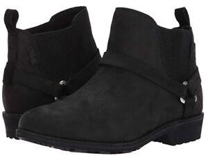 Teva Womens Delavina Chelsea Leather Boots 4 UK US 6 EU 37 Waterproof Leather