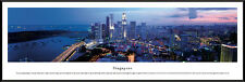 Singapore City Night Skyline Esplanade Bridge Framed Poster Picture I
