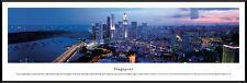 Singapore City Night Skyline Esplanade Bridge Framed Poster Picture I