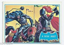 1966 Topps Batman Blue Bat with Bat Cowl Back (34B) A Fatal Joust