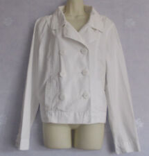 7af9025ba70 Ladies GAP white cotton double breasted jacket XL