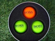 3 x Hugo Boss Green & Orange - Prisma Fluoro Ti Golf Balls + Free Boss Tees