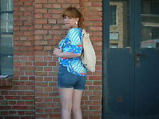 Damen T-Shirt Shirt NOS Oberteil STARS & STRIPES 90er TRUE VINTAGE 90's USA Gr.S