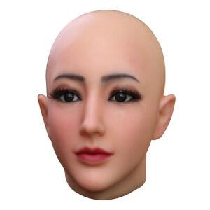 Dokier Crossdresser Realistic Silicone Female Headgear Props Halloween Cosplay