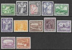 BRITISH GUIANA 1938-52 Set of 12 LHM SG 308/319 CV £110