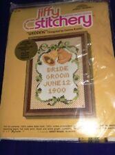 """Jiffy Stitchery """"Wedding"""" Counted Cross Stitch Kit by Sunset Designs #910 Kooler"""