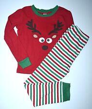Gymboree 7 Boys Girls Reindeer Holiday Christmas Gymmies Pjs Pajamas Set