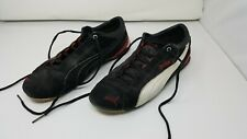 Puma Size 11 Mens Shoes Black Red White Material Suede and Leather