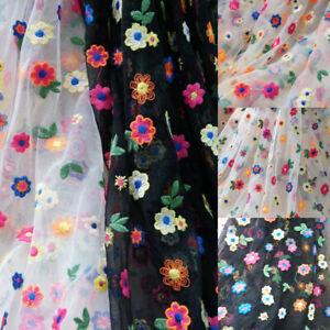 Floral & Fleur Broderie Voile Tissu Dentelle Maille Pour Mariage Robe De Mariée