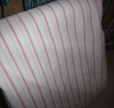 WESTPOINT STEVENS PINK & WHITE STRIPE QUEEN FITTED SHEET COTTON POLY BLEND 8""