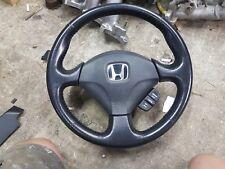 01-06 Civic Si leather stitched steering wheel,EM2,EP3,DC5,ES1,ES2,ek9,ap1,eg6