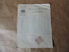 Facture/lettre Perigueux Boulangerie Bonnisson pain de luxe 1918