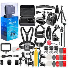 GoPro - HERO7 Silver 4K Waterproof Action Camera - With 50 Piece Accessory Kit