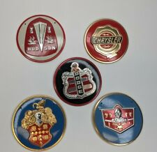 1950's Wheaties Vintage Car Emblems Lot Of 5