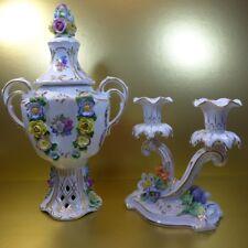 Potschappel Kerzenhalter Leuchter + Dresden Vase 30 cm 1.Wahl GUT ERHALTEN