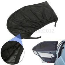 Universal Car Sun Shade Cover Fits Rear Side Window Provides UV Protection Black