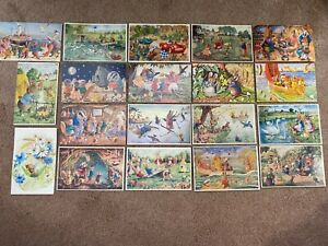 LOT of 19 RACEY HELPS Medici Society LONDON POSTCARDS Anamorphic